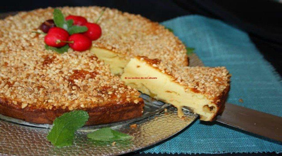 tarta nata yogur y manzana