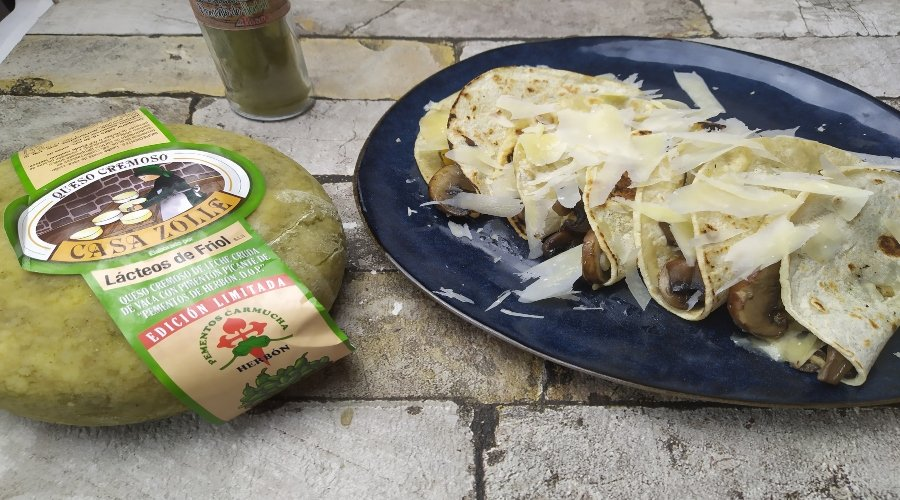 tacos champinon quesos