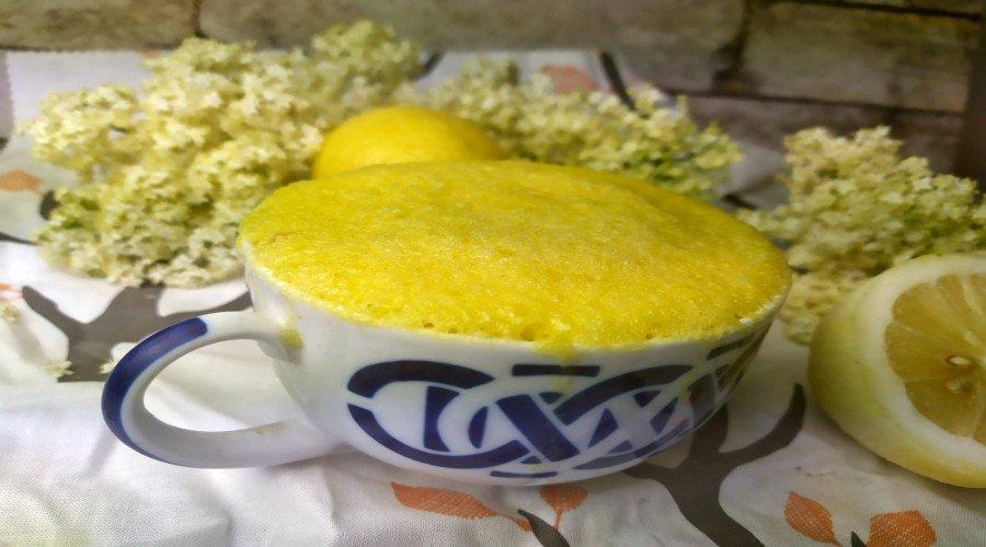 mug cake limón