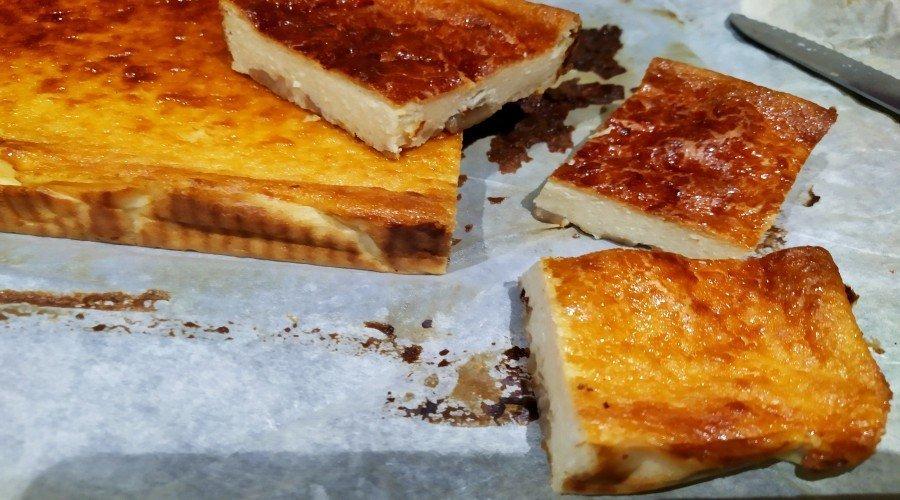 tarta queso y castañas