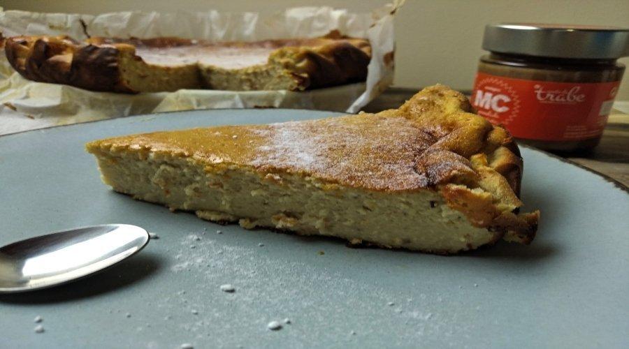 tarta cremosa castañas